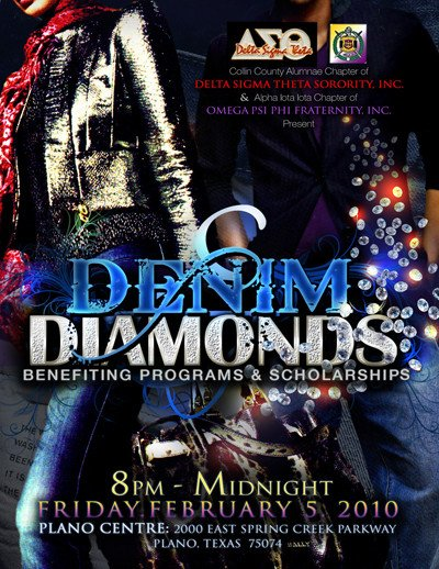 Denim and Diamonds Flyer Dallasblack Denim & Diamonds