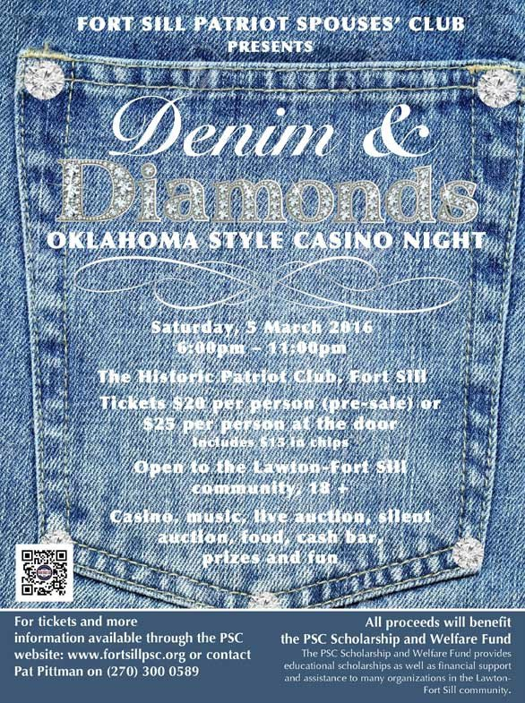 Denim and Diamonds Flyer Denim & Diamonds Oklahoma Style Casino Night