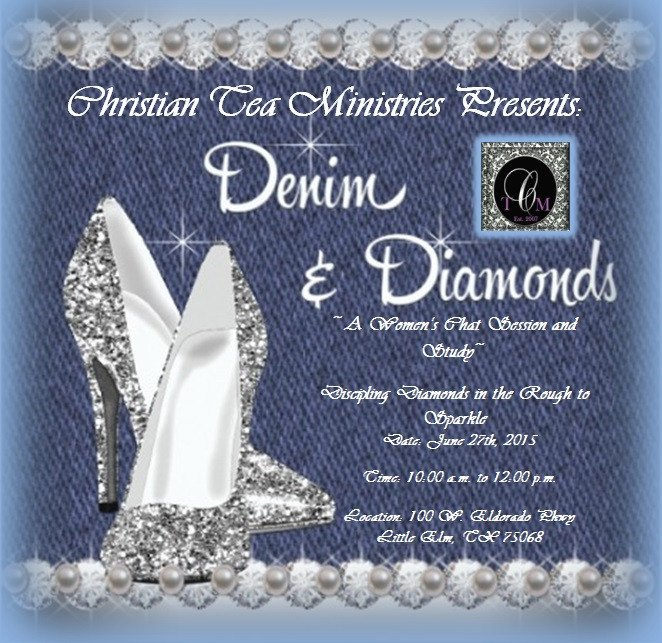 Denim and Diamonds Flyer Denim and Diamonds Women's Bible Study – Christian Tea