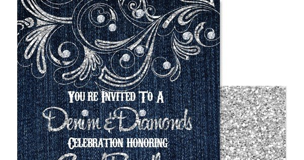 Denim and Diamonds Flyer Eccentric Designs by Latisha Horton New Denim Diamond