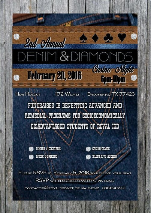 Denim and Diamonds Flyer Wel E to West I 10 Chamber Of Merce