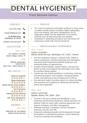 Dental assistant Resume Template 80 Free Professional Resume Examples by Industry