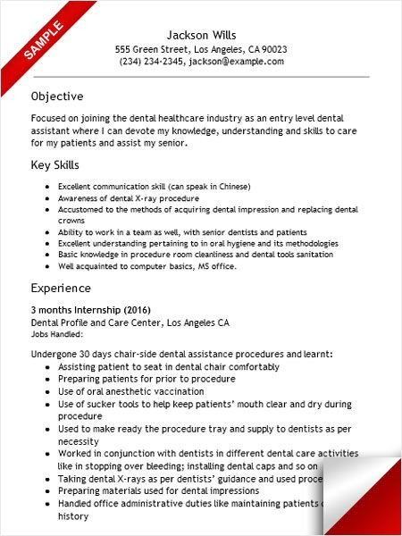 Dental assistant Resumes Template 157 Best Resume Examples Images On Pinterest