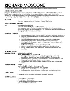 Dental assistant Resumes Template Best Dental assistant Resume Example