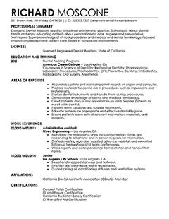 Dental assisting Resume Templates Best Dental assistant Resume Example