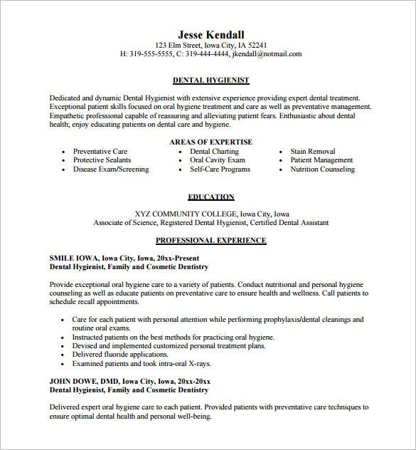 Dental assisting Resume Templates Dental assistant Resume Template 5 Free Word Excel
