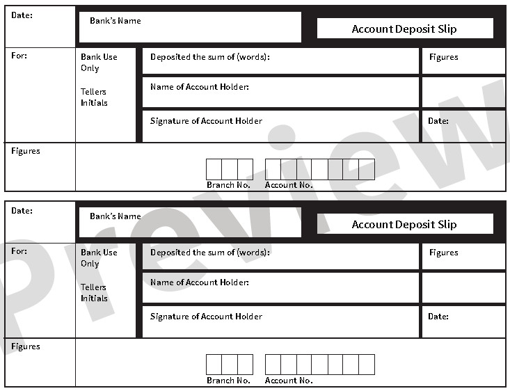 Deposit Slip Template Word 5 Free Deposit Slip Templates Small Business Resource