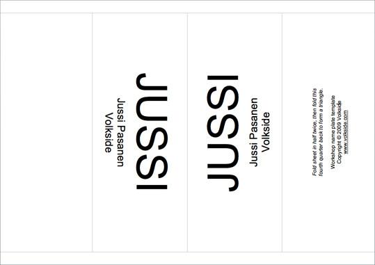 Desk Name Plate Template Workshop Tip Name Plate Template – Volkside