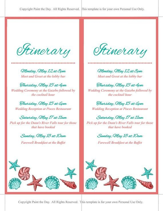 Destination Wedding Itinerary Template 17 Best Ideas About Wedding Itinerary Template On