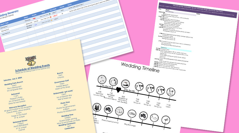 Destination Wedding Itinerary Template 8 Free Wedding Itinerary Templates and Schedule Templates