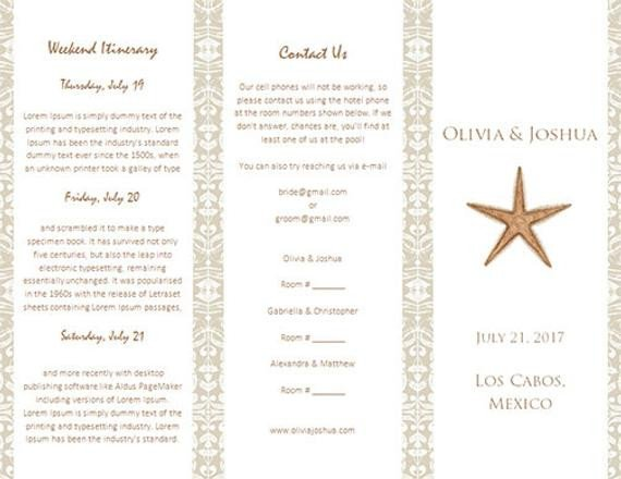 Destination Wedding Itinerary Template Destination Wedding Itinerary Template by Weddingtemplates