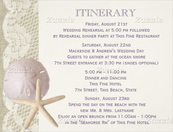 Destination Wedding Itinerary Template Destination Wedding Itinerary Template the Real Reason