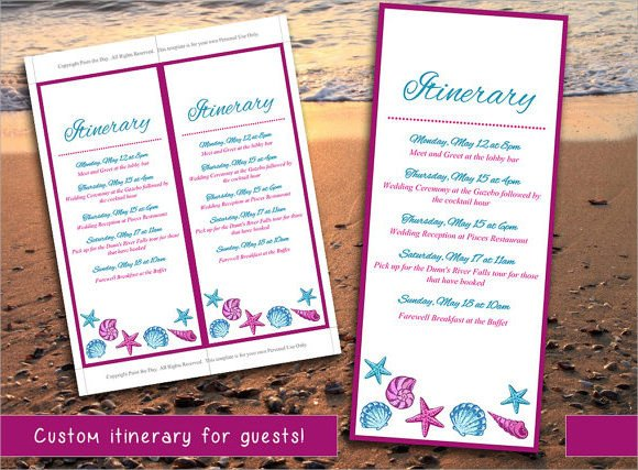 Destination Wedding Itinerary Template Wedding Itinerary 8 Download Documents In Pdf Psd Excel