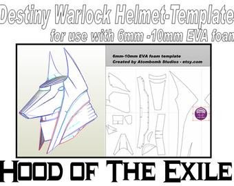 Destiny Hunter Armor Template Destiny Armor – Etsy