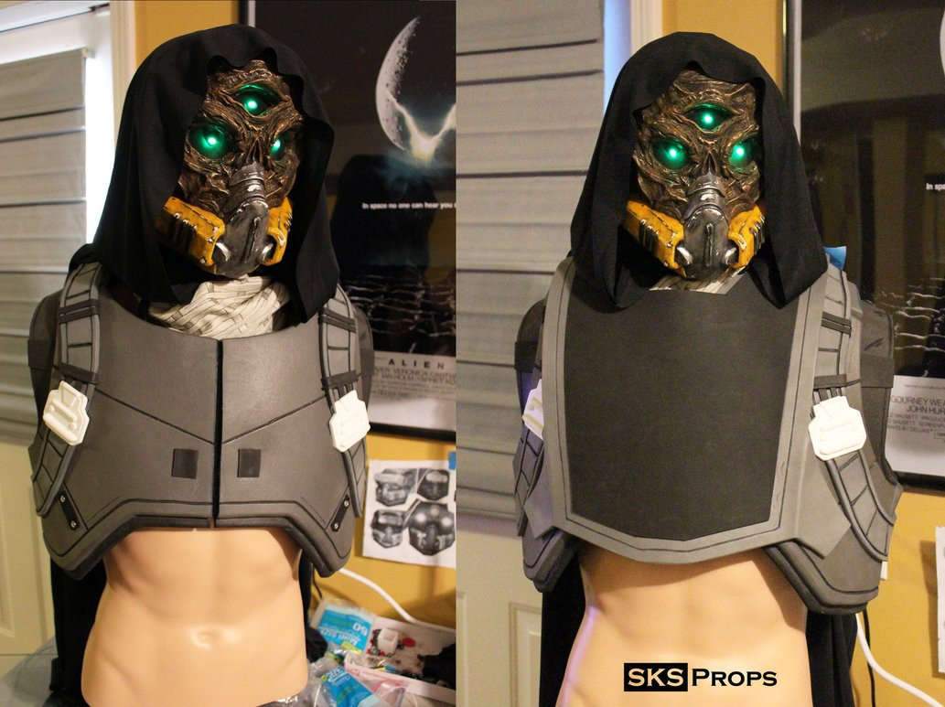 Destiny Hunter Armor Template Destiny Hunter Chest Armor Wip 1 by Sksprops On Deviantart