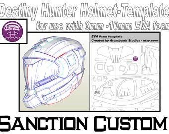 Destiny Hunter Armor Template Destiny Titan Helmet Holdfast Type 3 Template by