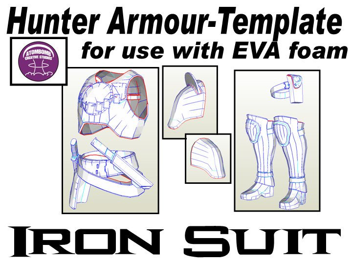 Destiny Hunter Armor Template Hunter Iron Suit Armour Male without Helmet Templates