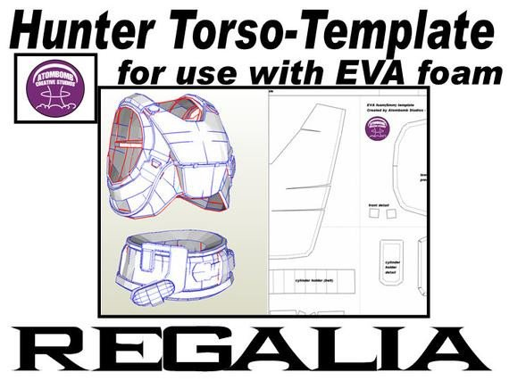Destiny Hunter Armor Template Hunter torso Armour Regalia Template for Eva Foam
