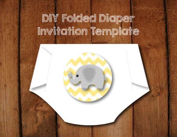Diaper Baby Shower Invitations Template 10 Diaper Invitation Templates Free Sample Example