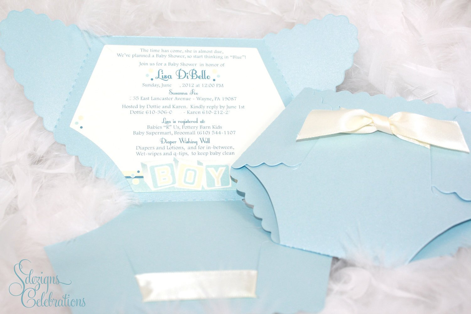 Diaper Baby Shower Invitations Template Diaper Baby Shower Invitation Baby Block Design by Sdezigns