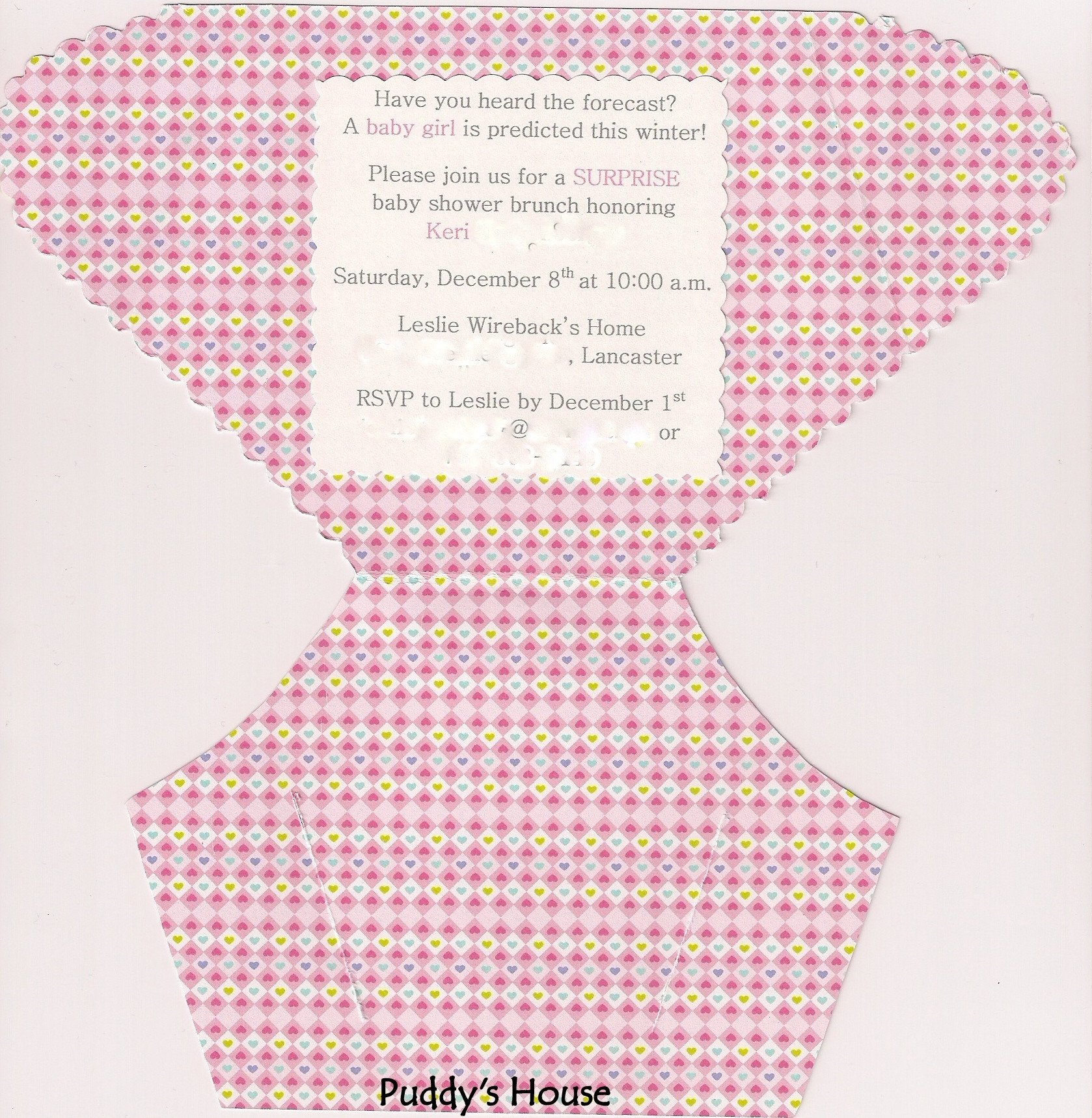 Diaper Baby Shower Invitations Template Diy Diaper Invitation – Puddy S House