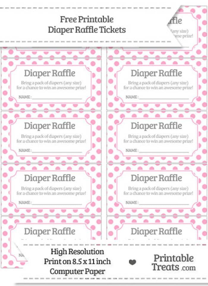 Diaper Raffle Ticket Template 10 Free Printable Diaper Raffle Tickets