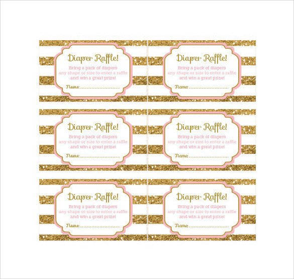Diaper Raffle Ticket Template 31 Raffle Ticket Templates Pdf Psd Word Indesign