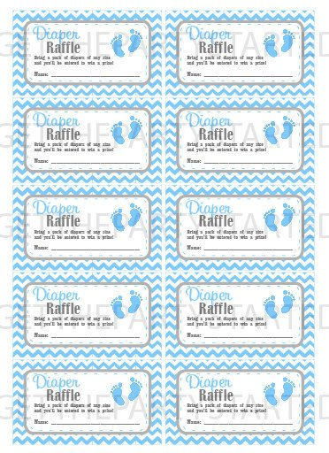 Diaper Raffle Ticket Template Diaper Raffle Tickets Printable Baby Shower Raffle Tickets