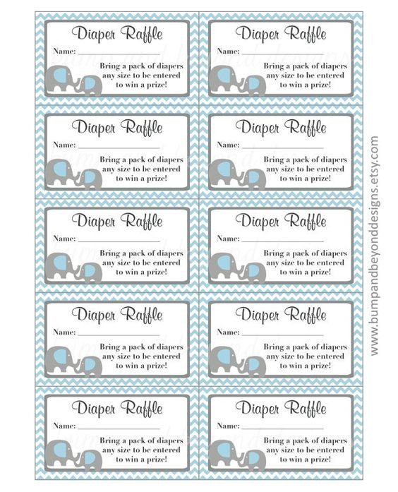 Diaper Raffle Ticket Template Diaper Raffle Tickets Raffle Tickets and Diaper Raffle On