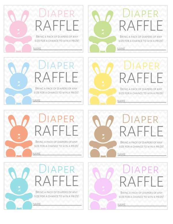 Diaper Raffle Ticket Template Free Printable Diaper Raffle Tickets