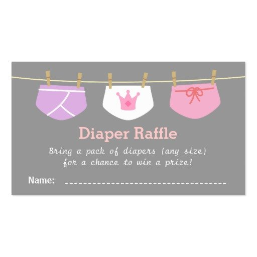 Diaper Raffle Ticket Template Princess Girl Baby Shower Diaper Raffle Tickets Business