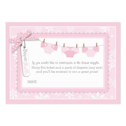 Diaper Raffle Ticket Template Snowflakes and Tutu Diaper Raffle Ticket Business Card