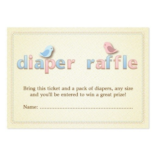 Diaper Raffle Ticket Template Sweet Bir Pink Blue Diaper Raffle Ticket Insert
