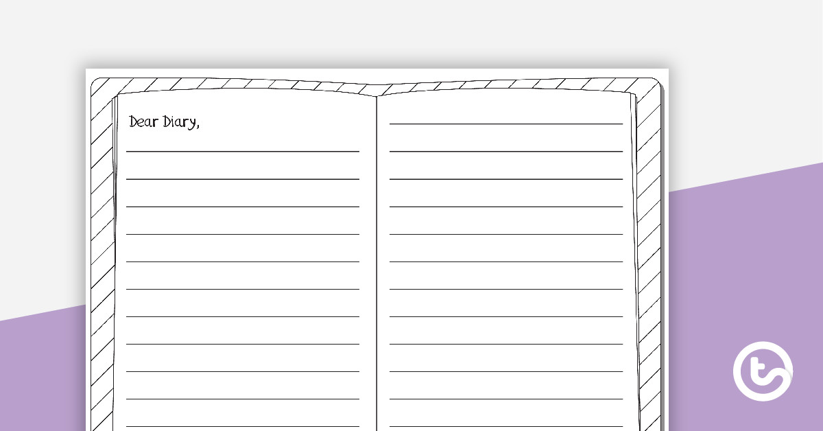 Diary Entry Template for Students Dear Diary Template