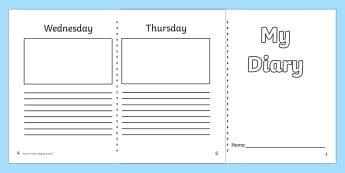 Diary Entry Template for Students Diary and Journal Templates