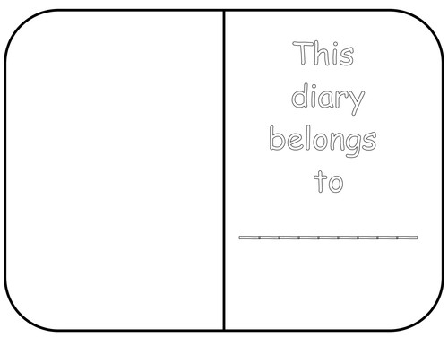 Diary Entry Template for Students Diary Template by White Lilly2