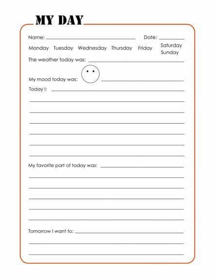 Diary Entry Template for Students the Journal Pages Teaching