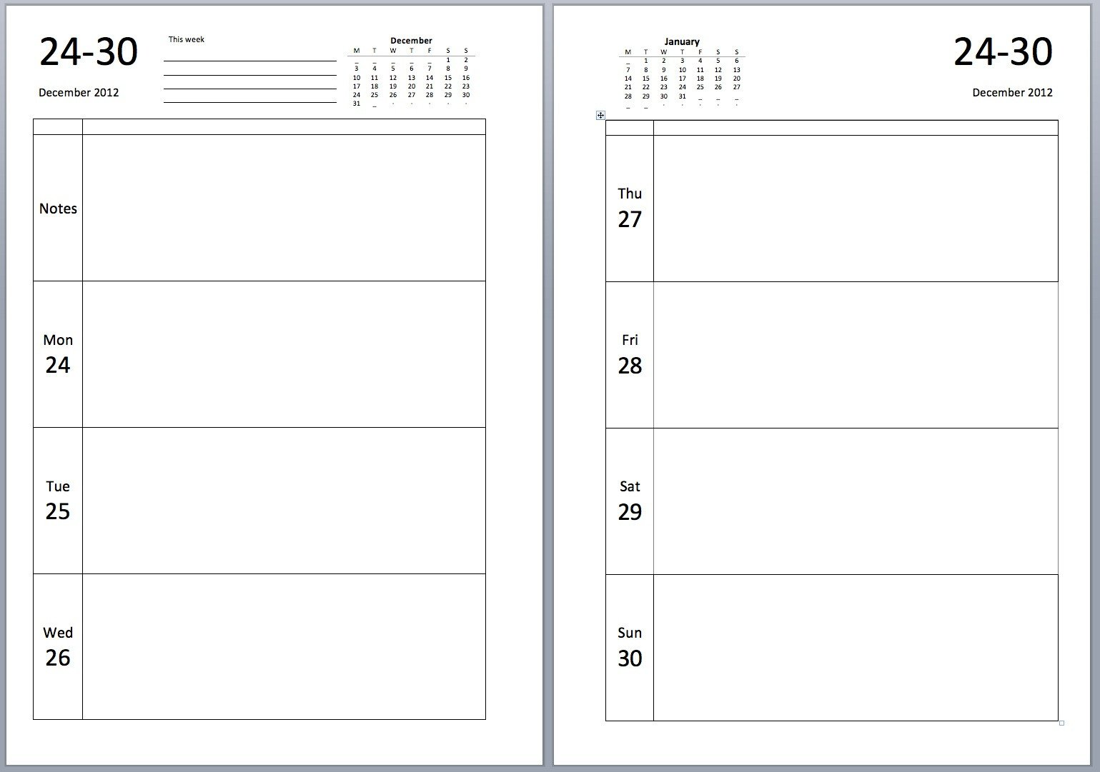 Diary Entry Template Word Philofaxy Download source Files for the New A5 Diary Layouts