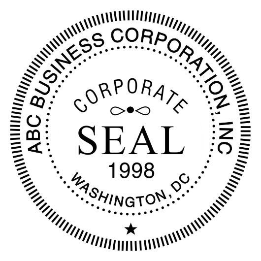 Digital Corporate Seal Template Corporate Seal Stamp Template for Pdf Bwpriority