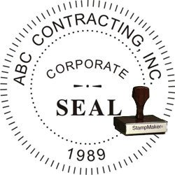 Digital Corporate Seal Template Corporate Seal Stamp Wood Stamp thestampmaker
