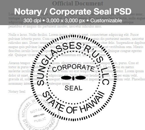 Digital Corporate Seal Template Notary Corporate Seal Psd by Spentoggle On Deviantart
