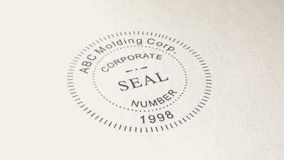 Digital Corporate Seal Template Seal Stamps