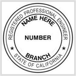 Digital Corporate Seal Template State Of California Ficial Registered Professional
