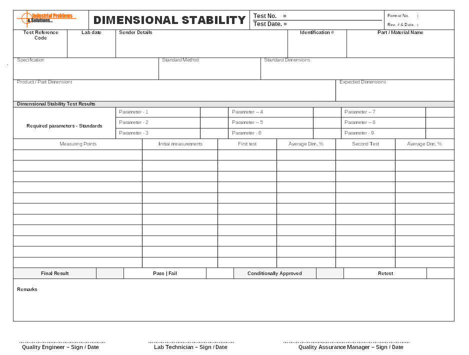 Dimensional Inspection Report Template How to Ensure Product Dimensional Stability and Close