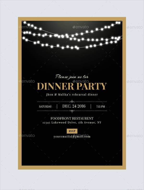 Dinner Party Invitation Templates 47 Dinner Invitation Templates Psd Ai