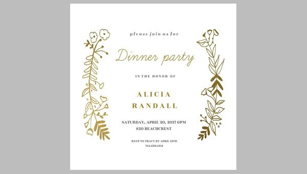 Dinner Party Invitation Templates 62 Printable Dinner Invitation Templates Psd Ai Word