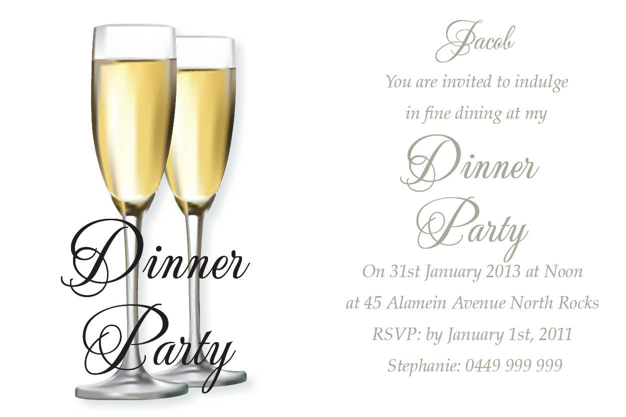 Dinner Party Invitation Templates Birthday Dinner Invitation Wording Ideas – Bagvania Free