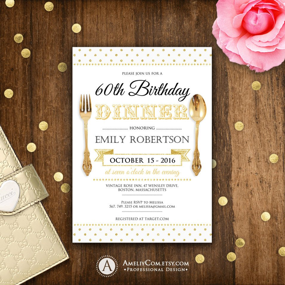 Dinner Party Invitation Templates Birthday Dinner Invite Printable Birthday Dinner Invitations