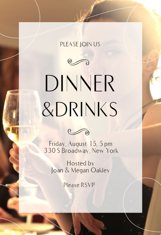 Dinner Party Invitation Templates Classic Dinner Dinner Party Invitation Template Free