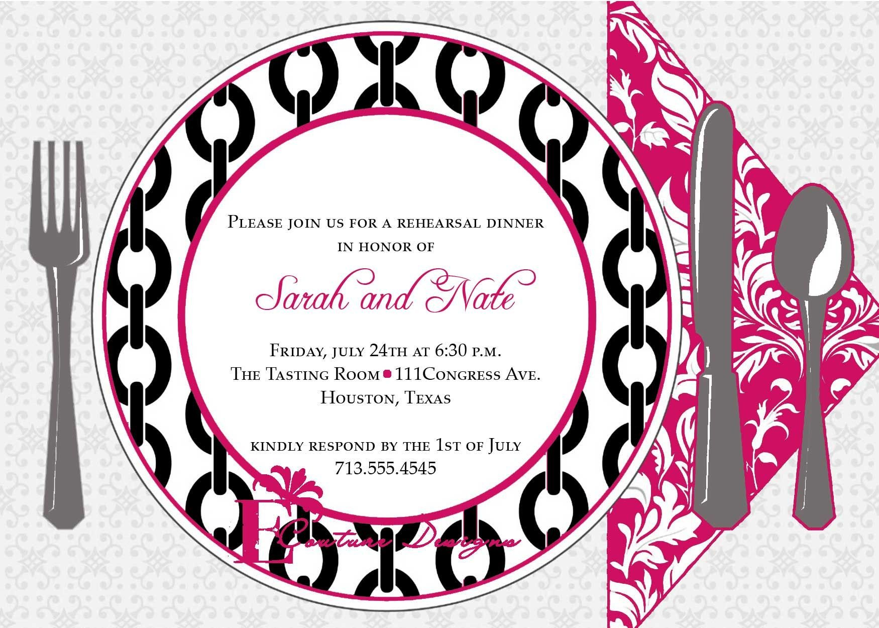 Dinner Party Invitation Templates Dinner Invitation Template